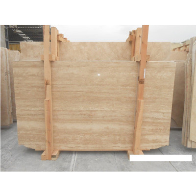 Ivory Vein Cut Honed Filled 3/4 Travertine Slabs