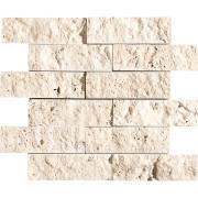 Ivory Exposure 2X6 Travertine Mosaics