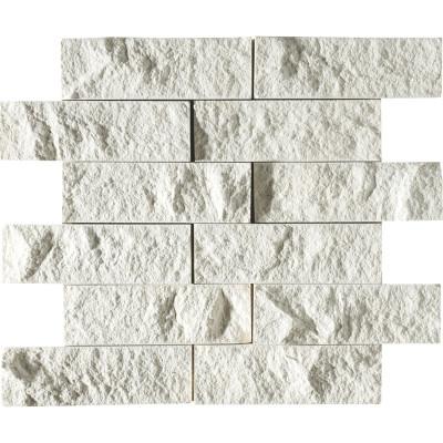 Champagne Exposure 2X6 Limestone Mosaics