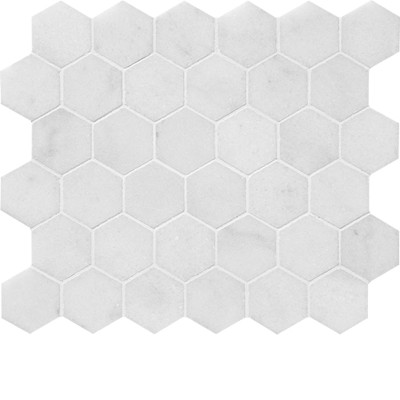 Glacier Honed Hexagon 2 Marble Mosaics