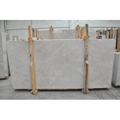 Cloudy Beige Polished 3/8 Marble Slabs
