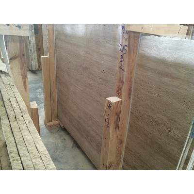 Ivory Vein Cut Polished 1 1/4 Travertine Slabs