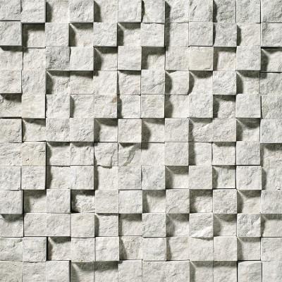 Silver Shadow Exposure 1X1 Marble Mosaics
