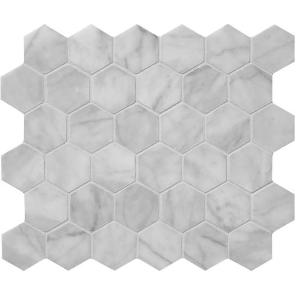 Avenza Honed Hexagon 2 Marble Mosaics 1