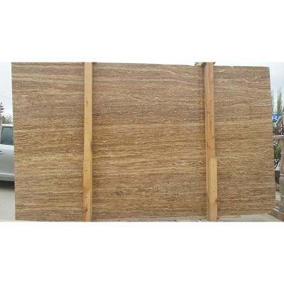 Walnut Vein Cut Honed Filled 1 1/4 Travertine Slabs